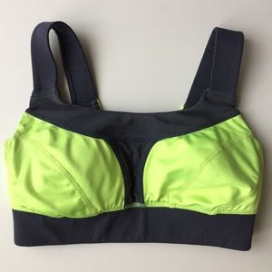Zella Neon Green & Grey Sports Bra